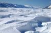 Il ghiacciaio Priestley - Al centro si vede un ricercatore