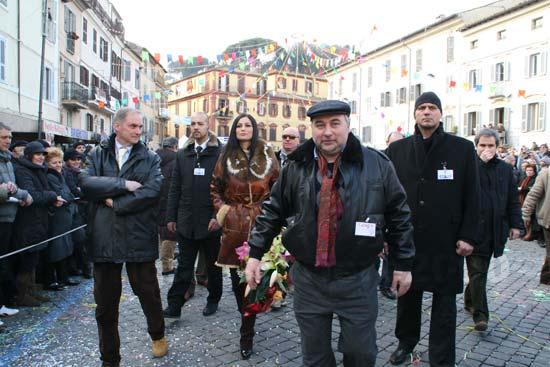 Carnevale - Manuela Arcuri a Ronciglione