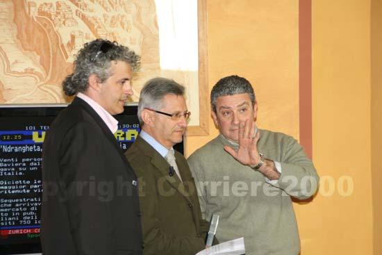 Marcello Meroi e Federico Grattarola seguono lo spoglio elettorale