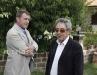 L'assessore Trapè con il sindaco di Lubriano, Valentino Gasparri, in visita alla casa di Pistonami