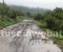 Le frane sulla strada Valle di Vico