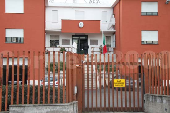 La caserma dei carabinieri della compagnia di Civita Castellana
