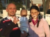 Marcella Rizzello con Francesco Vincenti e la figlioletta