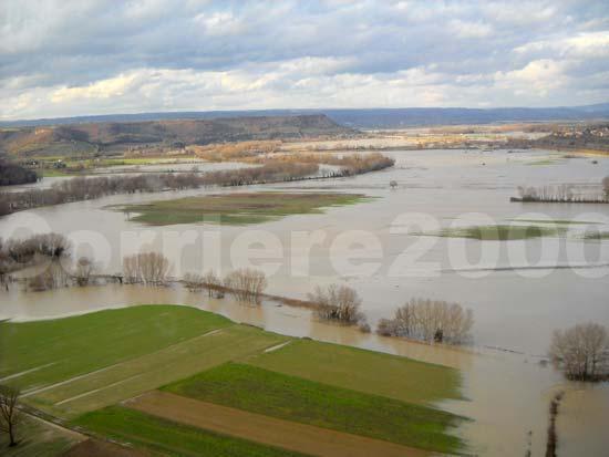 La valle del Tevere inondata tra Bomarzo e Attigliano