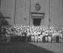 I facchini davanti al monastero di Santa Rosa