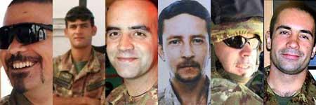<p>I militari uccisi a Kabul</p>
