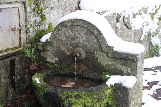 La neve sulla Faggeta a Viterbo