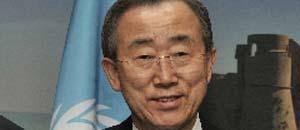 <p>Il segretario generale dell'Onu Ban Ki-moon</p>