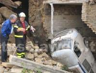 <p>Il giardino crollato a Tessennano</p>