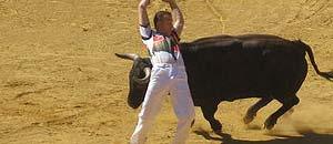 <p>Un'immagine della corrida</p>