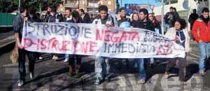 <p>La protesta degli studenti</p>