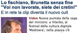 Il caso Brunetta Tusciaweb su Repubblica