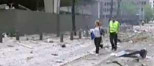 Un'immagine dell'attentato