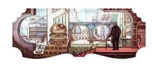 Il doodle per Luis Borges