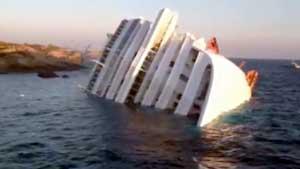 La Costa Concordia affondata al Giglio