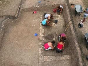 I lavori di scavo a Trevi