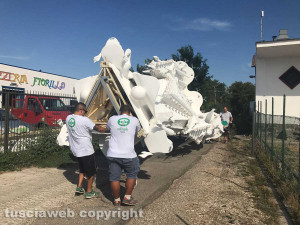 Viterbo – Santa Rosa – Gloria sui camion